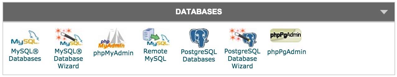 Click MySQL Database Wizard