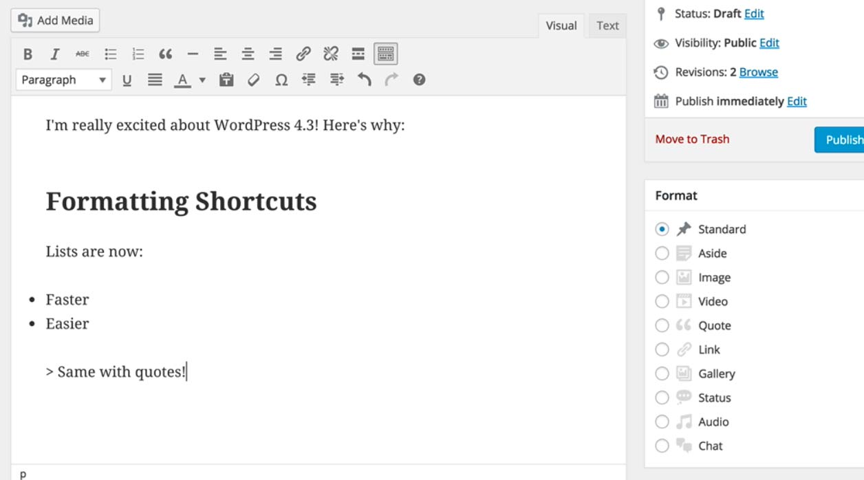 formatting-shortcuts