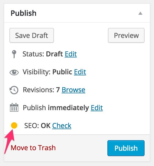 yoast seo setup yellow